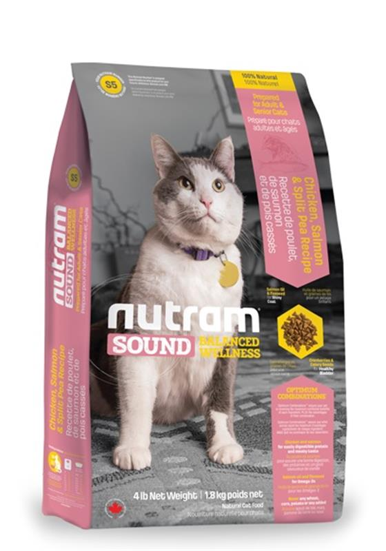 Comida para gatos Nutram Sound Adult Senior